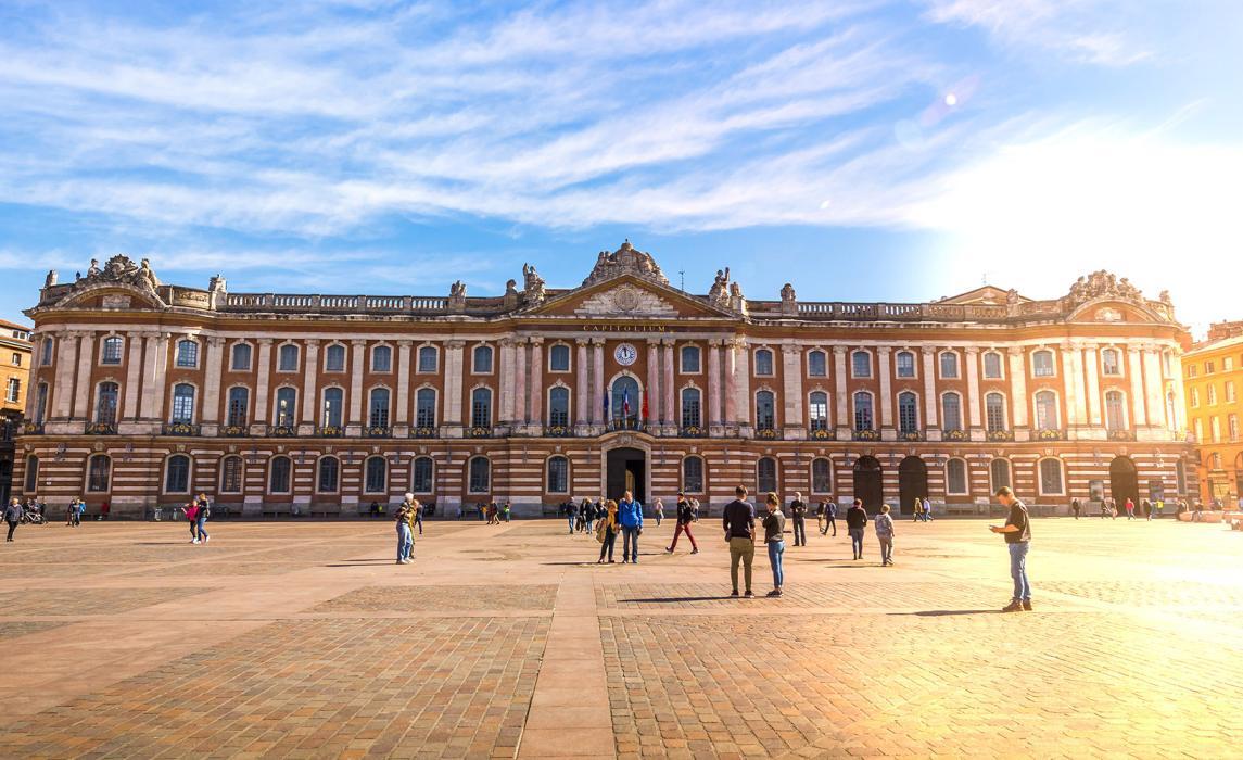 La façade du Capitole à Toulouse