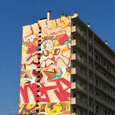 Fresque de la Truskool place Arnaud-Bernard