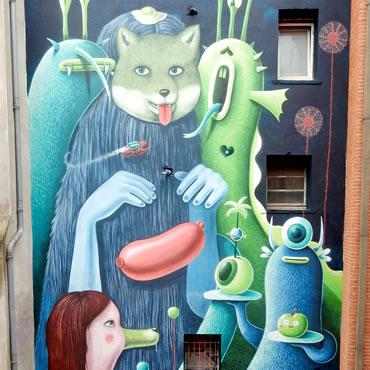 Graffiti rue Sainte-Ursule